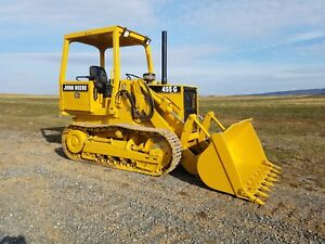 1999 John Deere 455g Iv Tracked Loader Tractor Hydraulic Construction Machine