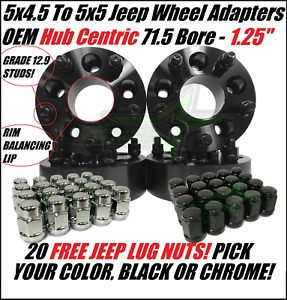 5x4 5 To 5x5 Wheel Adapters Hub Centric 1 25 Inch Adapt Jk Wheel On Tj Yj Lugs