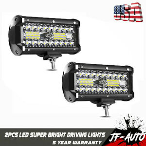2x6inch 72w Led Light Bar Work Spot Flood Combo Beam Cree 4wd Car Atv Utv Truck