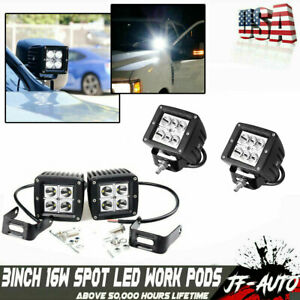 2x 4inch 54w Cree Led Work Light Bar Flood Offroad Atv Fog Truck Lamp 4wd 12v 6