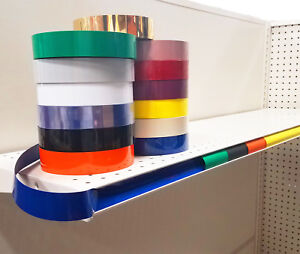 Decorative Gondola Shelving Vinyl Inserts Many Colors Available 130 Ft X 1 25 In
