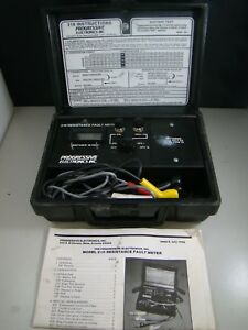 Progressive Electronics 210 Resistance Fault Meter W Case Manual As Is