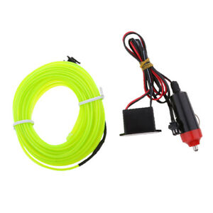 Magideal Car Party 12v Green Neon Led Light El Wire Strip Rope Tube 3m