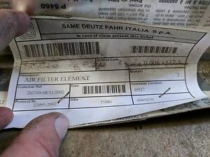 Cabin Air Filter P n 008 1537 3 For Same Deutz Fahr And Landini Tractors