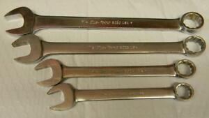 Vintage Blue point 4pc Sae 12pt Combination Wrench Set