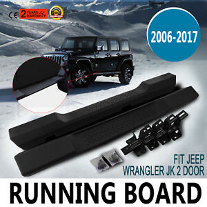 Oe Factory Style Side Step Running Board Nerf Bar For 06 17 Jk Jeep Wrangler 2dr
