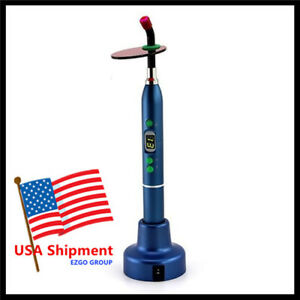 New Blue Fda 5w Dental Wireless Led Curing Light 1200mw Cicada Cv 215
