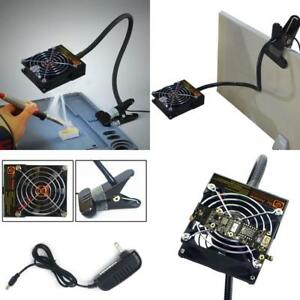 Adjustable Solder Smoke Fume Extractor Absorber Fan W Portable Table Clamp