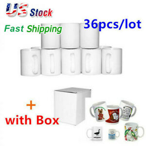 36pcs carton Blank White Mugs A Grade 11oz Heat Press Sublimation Coated Mugs