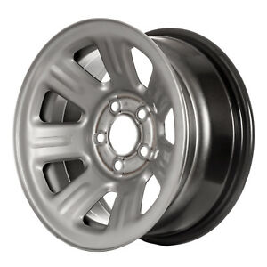 03404 Oem Reconditioned Steel Wheel 15x7 Medium Silver Sparkle Full Face Painted