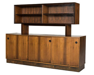 Falster Clausen S N Maurice Villency Rosewood Danish Modern Credenza W Hutch