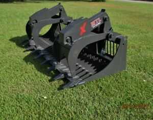 Mtl 80 X Series Rock Grapple Bucket W teeth Skid Steer Bobcat ship 179