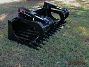 Mtl Attachments Rk5 72 Skid Steer Rock Grapple Bucket Twin Cylinder 169 Ship