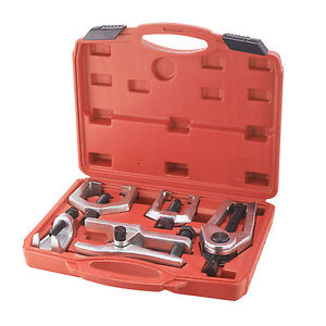 6pc Pitman Arm Puller Ball Joint Separator Tie Rod Front End Tool Kit W Case