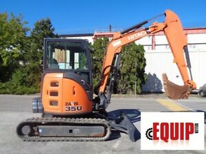 2015 Hitachi Zaxis 35u 5n Mini Excavator Enclosed Cab Auxiliary Hydraulics