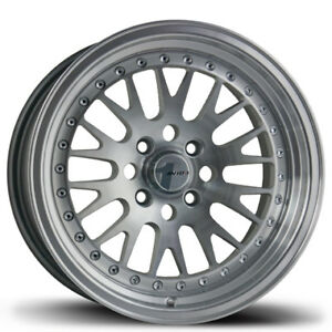 Avid1 Av12 15x8 Rims 4x100 25 Silver Wheels New Set