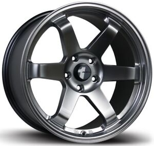 Avid1 Av06 18x8 5 Rims 5x114 3 35 Hyper Black Wheels New Set Avid1 Av06 18x8 5