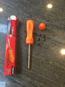 New Snap On Orange Ratcheting Screwdriver With 5 Bits Ssdmr4bo