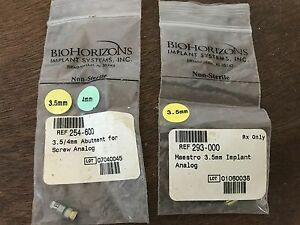 Biohorizons Implant Systems Abutment For Screw Analog And Implant Analog