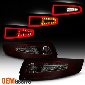 2005 2008 Porsche 911 997 Carrera Gt2 Gt3 Red Smoked Led Tube Tail Lights 06 07