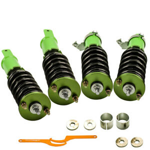 For Honda Civic 1992 2000 Full Coilover Suspension Lowering Kits Green