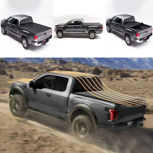 Fit 09 18 Ram Pickup 1500 2500 3500 6 5 Truck Bed Soft Roll Up Tonneau Cover