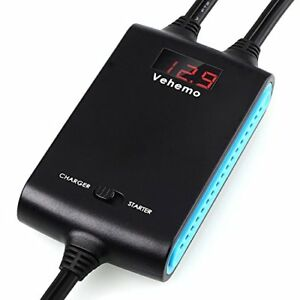 Vehemo Booster Cables No Cable Clipping Used With Car Jump Starter And