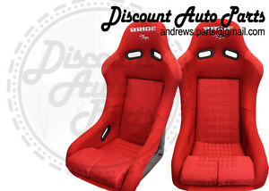 Bride Vios 3 Iii Red Gradation Bucket Seats Low Max Jdm Racing Drift Pair
