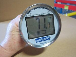 Sanitary Digital Thermometer 3 5 Dial 0 300 F 9 Stem For Processing