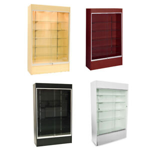 Wall Glass Display Case Showcase W Light 78 Maple Black Cherry Ny Pickup