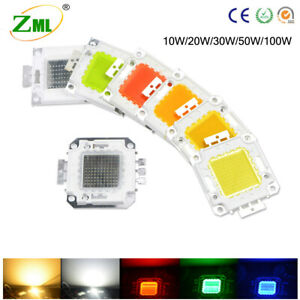 Led Chip Rgb Cob Bulb 100w 50w 30w 20w 10w Red Blue Yellow Green Smd Lamp Bead