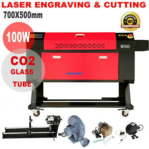 100w Co2 Laser Engraver Cutter Cutting Engraving Machine W 3 jaw Rotary Axis