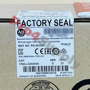 2017 8 Us Stock New Allen bradley Micrologix1400 32point Controller 1766 l32awaa
