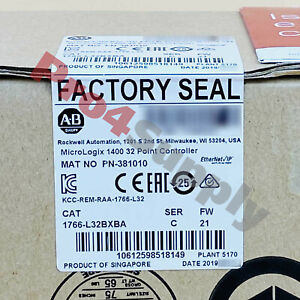 2018 Us Stock New Allen Bradley Micrologix 1400 32point Controller 1766 l32bxba