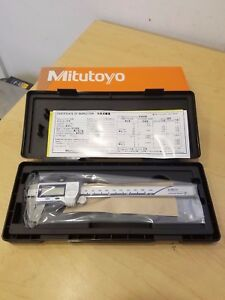 Mitutoyo Absolute Digital Caliper 0 To 6 In 500 733 20 W cert