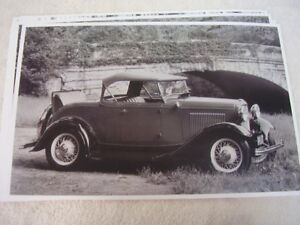 1932 Ford Roadster Top Up Rumble Seat 11 X 17 Photo Picture