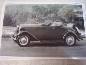 1932 Ford Roadster Top Down Rumble Seat 11 X 17 Photo Picture