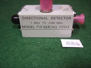 Wiltron 710 Directional Detector 1 2000 Mhz Tested Used