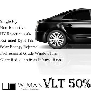 Wimax Light Smoke 50 Vlt 30 In X 5 Ft Feet Uncut Roll Window Tint Car Film