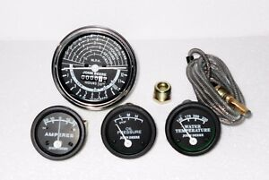 John Deere Tractor Tachometer Ammeter Oil Pressure Temperature Gauge Set Replace