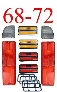 68 72 Chevy 8pc Tail Light Kit W Deluxe Chrome Side Lights Gmc Truck