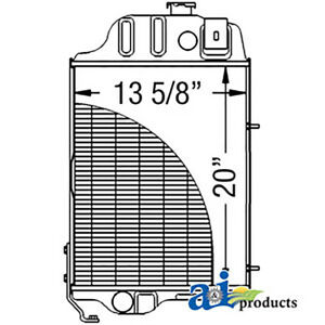 Radiator Fits John Deere 1520 2020 2030 2630 2640 2440 300b Al25255 Or Ar65715
