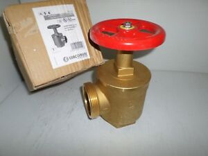 new In Box Giacomini A56y005 Fire Hose Valve 2 1 2 Nst X 2 1 2 Npt Fm