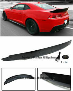 Zl1 Style Abs Rear Trunk Wing Spoiler W Wicker Bill For Chevy Camaro 14 15