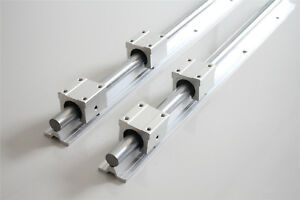 2set Sbr16 400 Slide Guide Fully Supported Linear Rail Shaft Rod