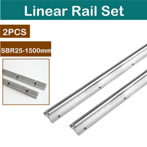 Sbr25 1500mm 25mm Linear Motion Rail Shaft Rod Fully Supported Slide Rods