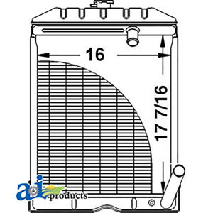 Radiator Assembly For Ford Tractor Naa Jubilee C5nn8005ab 600 700 2000