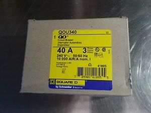 Square D 40 amp 3 phase 240v Breaker Qou340 New In Box