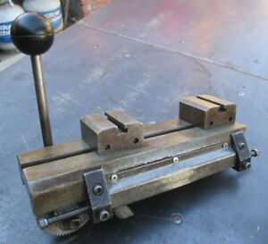 Hardinge Model E Lever Quick Action Cross Slide With Tool Posts