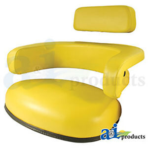 3 Piece Seat Assembly With Headrest Armrests And Bottom Cushion For John Deere